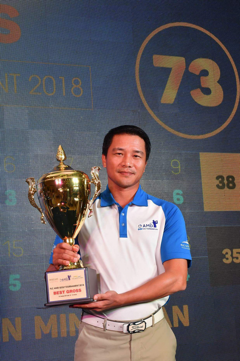 Golfer Minh Tuấn đạt giải Best Gross FLC AMD Golf Tournament 2018