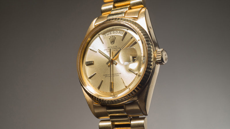 Cận cảnh chiếc Rolex Day-Date Reference 1803 của Jack Nicklaus