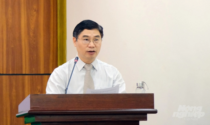 Deputy Director of Plant Protection Department Nguyen Quy Duong spoke at the conference. Photo: Bao Thang.