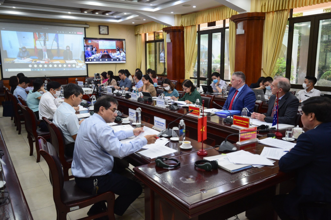 The forum was co-chaired by Deputy Minister Le Quoc Doanh of Vietnam Agriculture and Rural Development (MARD) and Secretary of Department of Agriculture, Water and the Environment Andrew Metcalfe. Photo: Tung Dinh.