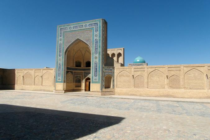 Kalon Mosque, Bukhara, one of Central Asia's holiest cities, also popular with visitors for its covered bazaars.